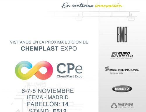 📆 Del 6 al 8 de Noviembre 2018, estaremos en la Feria CHEMPLAST