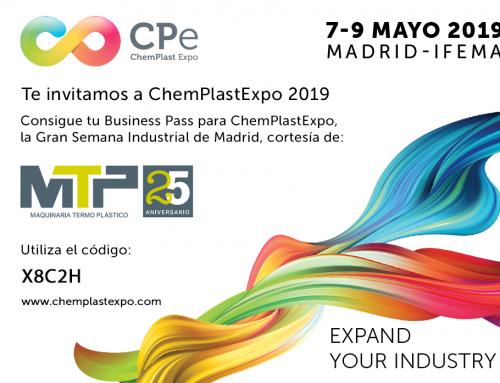 ¡Introduce el código y descarga tu Business Pass gratuito para Chemplast 2019!